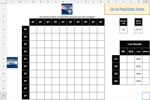 2015 superbowl pool box new calendar template site for Block pool template