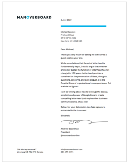Creating Beautiful And Functional Letterhead In Google Drive Ripple - Google docs create template